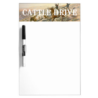 TEE Cattle Drive Dry Erase Whiteboard