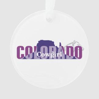 TEE Colorado Cowgirl Ornament