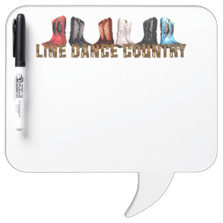 TEE Country Line Dance Dry Erase Boards