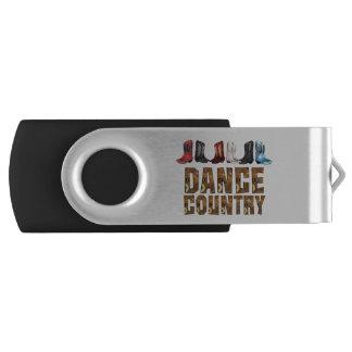 TEE Country Line Dance Swivel USB 2.0 Flash Drive