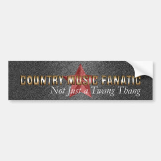 TEE Country Music Fanatic Bumper Sticker
