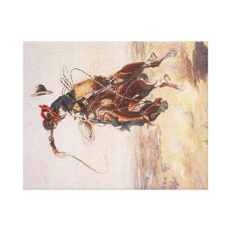 TEE Cowboy Life Canvas Print