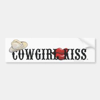 TEE Cowgirl Kiss Bumper Sticker