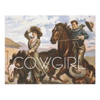 TEE Cowgirl Old School Postcard