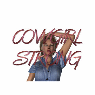 TEE Cowgirl Strong Photo Cut Out