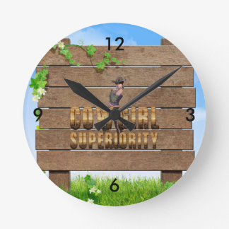 TEE Cowgirl Superiority Clock
