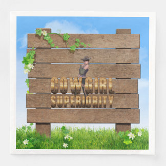 TEE Cowgirl Superiority Disposable Napkins
