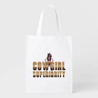 TEE Cowgirl Superiority Reusable Grocery Bag