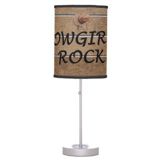 TEE Cowgirls Rock Table Lamp