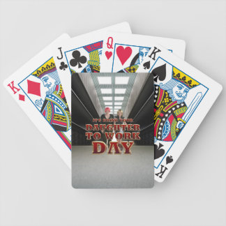 TEE Daughter to Work Day Bicycle Playing Cards