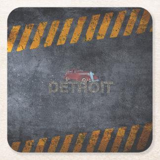 TEE Detroit Square Paper Coaster