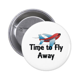 TEE Fly Away 2 Inch Round Button