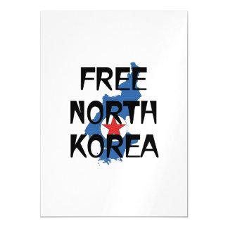 TEE Free North Korea Magnetic Invitations