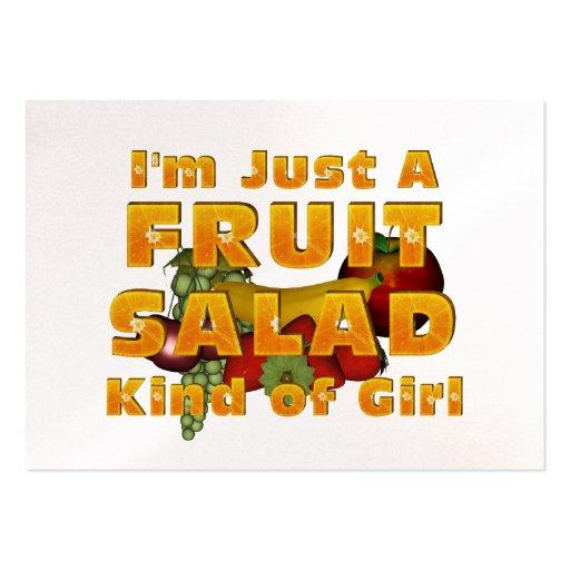 TEE Fruit Salad Girl Business Card Template