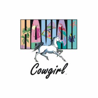 TEE Hawaii Cowgirl Standing Photo Sculpture