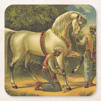 TEE Horse Royalty Square Paper Coaster