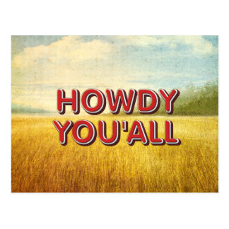 TEE Howdy You'all Postcard