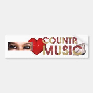 TEE I Love Country Music Bumper Sticker
