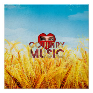 TEE I Love Country Music Perfect Poster