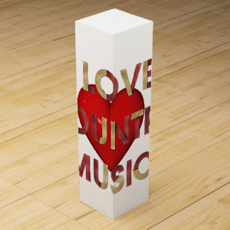 TEE I Love Country Music Wine Gift Boxes