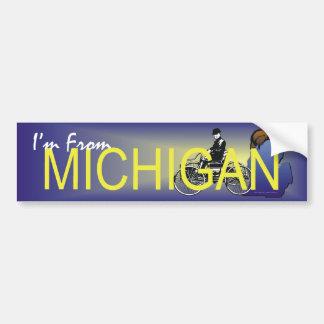 TEE I'm From Michigan Bumper Sticker