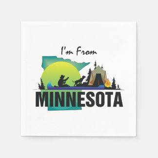 TEE I'm from Minnesota Paper Napkins