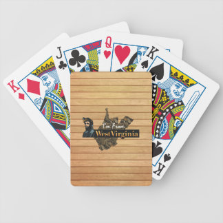 TEE I'm from West Virginia Bicycle Playing Cards