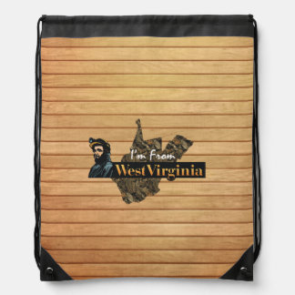 TEE I'm from West Virginia Drawstring Bag
