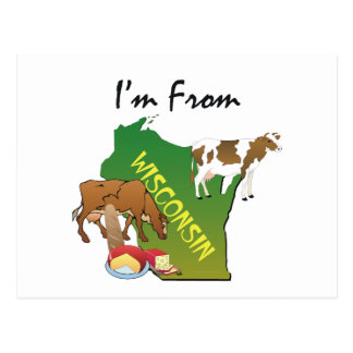 TEE I'm From Wisconsin Postcard