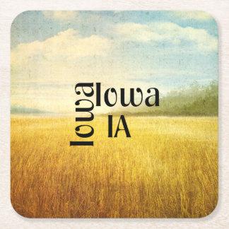TEE Iowa Square Paper Coaster