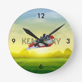 TEE Kentucky Patriot Round Clock