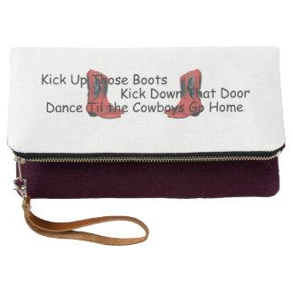 TEE Kick Up Those Boots Clutch