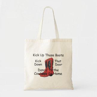 TEE Kick Up Those Boots Tote Bag