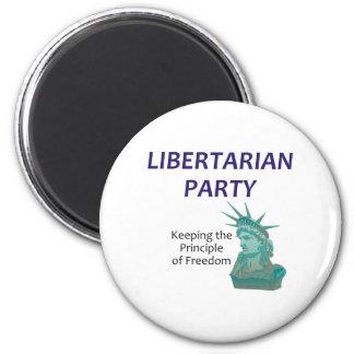 TEE Libertarian 2 Inch Round Magnet