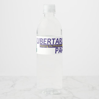 TEE Libertarian Party Water Bottle Label