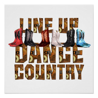 TEE Line Dance Country Perfect Poster
