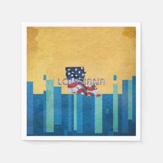 TEE Louisiana Patriot Paper Napkins