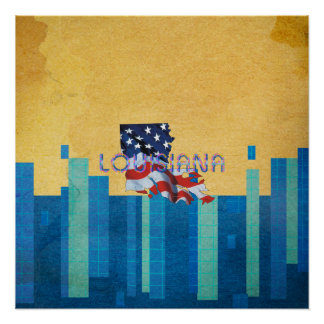 TEE Louisiana Patriot Perfect Poster