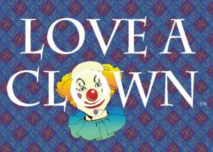 Clown business cards business card printing zazzle ca tee love a clown business card colourmoves