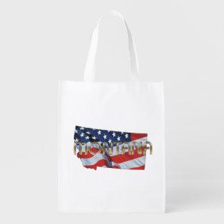 TEE Montana Patriot Reusable Grocery Bag