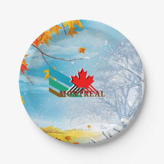 TEE Montreal Paper Plate