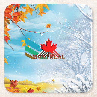 TEE Montreal Square Paper Coaster