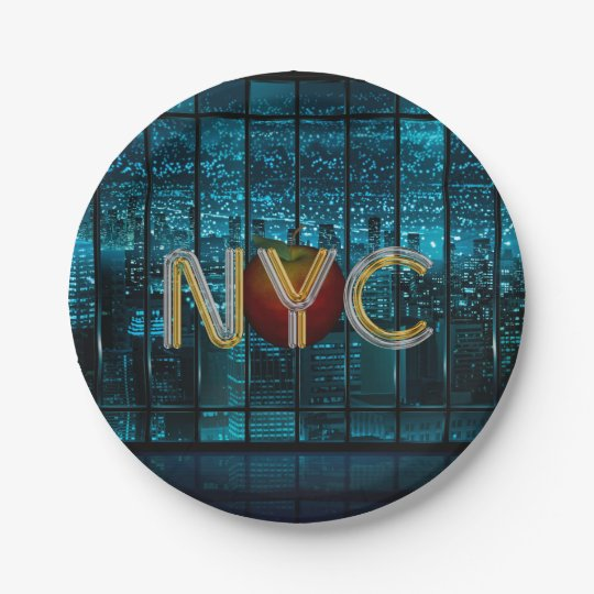 TEE New York City Paper Plate
