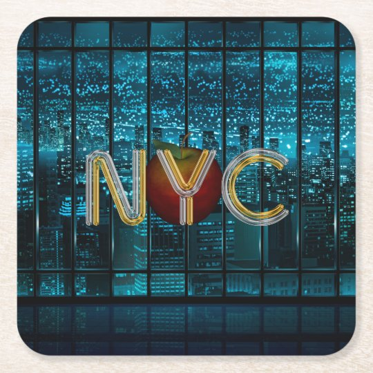 TEE New York City Square Paper Coaster