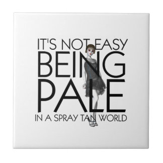 TEE Not Easy Being Pale Tile