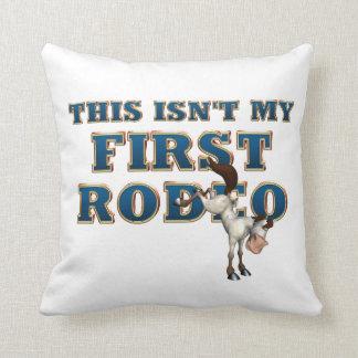 TEE Not My First Rodeo Throw Pillow