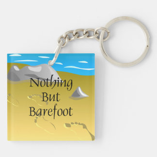 TEE Nothing But Barefoot Double-Sided Square Acrylic Keychain