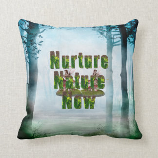 TEE Nuture Nature Now Throw Pillow