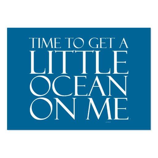 TEE Ocean On Me Large Business Card