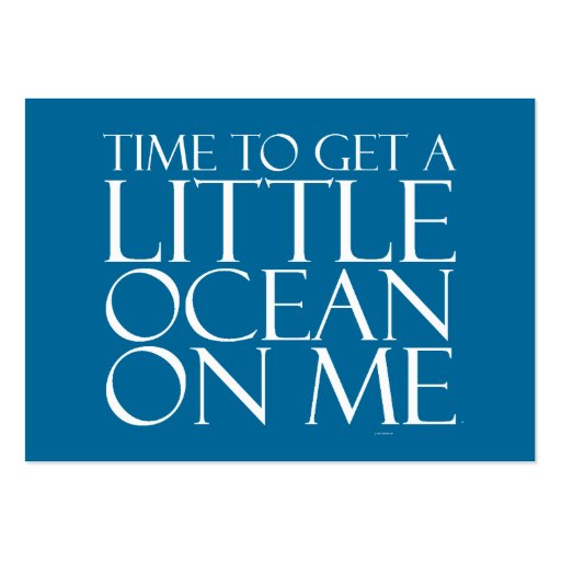 TEE Ocean On Me Large Business Cards (Pack Of 100)